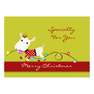 Personalize o Tag do presente de época natalícia Cartão De Visita Grande