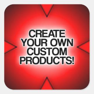 Personalize/personalize/criar seus próprios adesivo quadrado