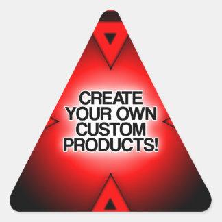 Personalize/personalize/criar seus próprios adesivo triangular