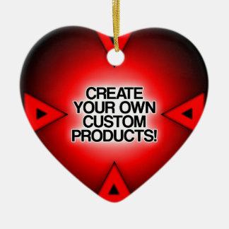 Personalize/personalize/criar seus próprios ornamento de cerâmica coração