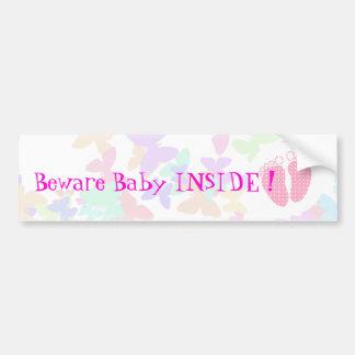 Pés customizáveis do bebê com borboleta adesivo de para-choque
