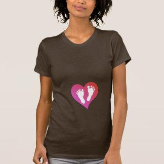 Pés do bebê de maternidade por Leslie Harlow T-shirt