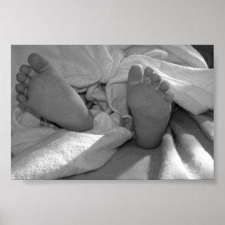Pés do bebê pôster