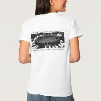 Pés do círculo - preto e branco - Tshirt