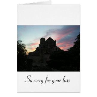 Pesaroso para sua perda [de um indivíduo] cartão comemorativo
