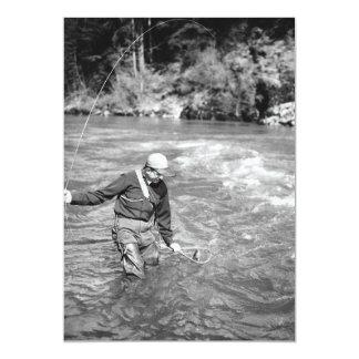 Pesca do homem convite 12.7 x 17.78cm