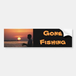 Pesca ida, pesca do homem no autocolante no vidro  adesivo para carro