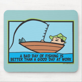 Pescador engraçado mouse pad