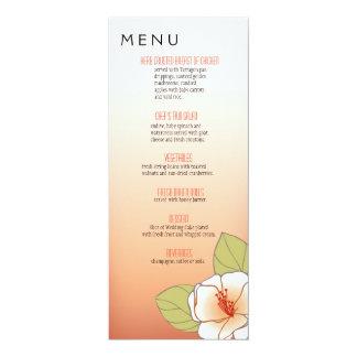 Pêssego de florescência do menu do comensal das convite