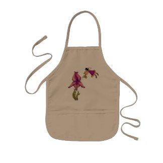 Pêssego & íris roxa avental infantil