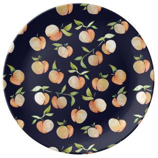 Pêssegos Peachy Pratos De Porcelana