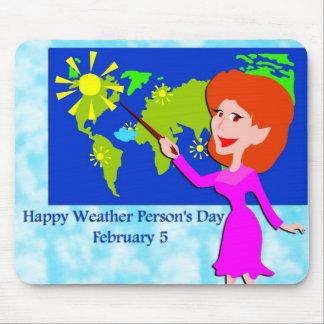 Pessoa do tempo dia o 5 de fevereiro mouse pad