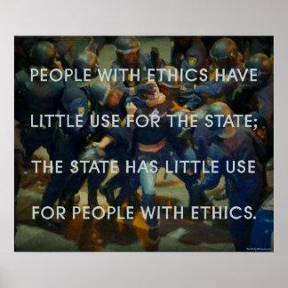 Pessoas com éticas posteres