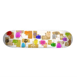 Pessoas da paz skateboard