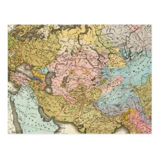 Pessoas de Ásia e de Europa Cartão Postal