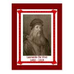 Pessoas famosas, Leonardo da Vinci 1452 - 1519 Cartao Postal