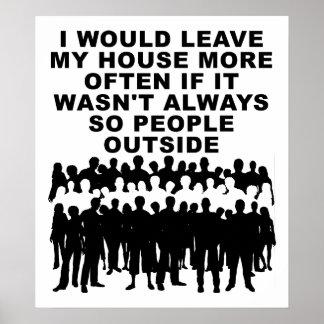 Pessoas fora do poster engraçado