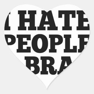 Pessoas & sutiãs do ódio adesivo coração