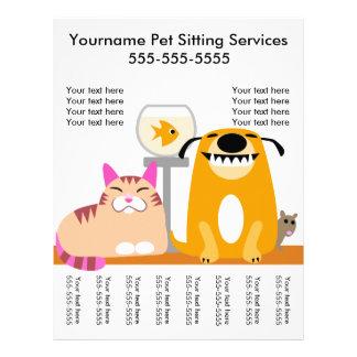 Pet o insecto do baby-sitter com Tag-cão, gato, Flyer 21.59 X 27.94cm