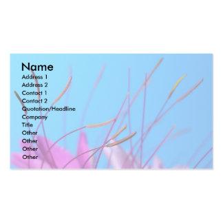 Pétalas florais cor-de-rosa cartão de visita