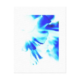 Pétalas leves azuis com efeito demoldação impressão em tela