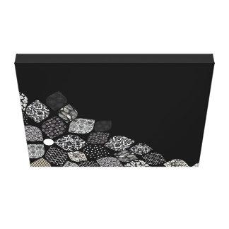 Pétalas pretas & brancas impressão em tela