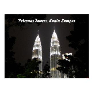 Petronas eleva-se cartão cartão postal