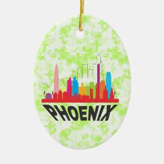 Phoenix Ornamento De Cerâmica Oval