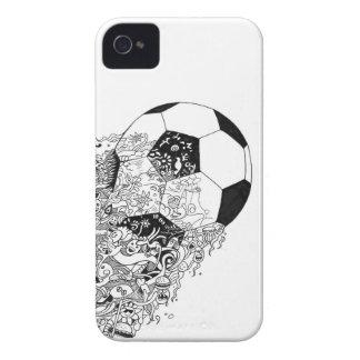 Phonecase da Doodle-arte do futebol Capas Para iPhone 4 Case-Mate