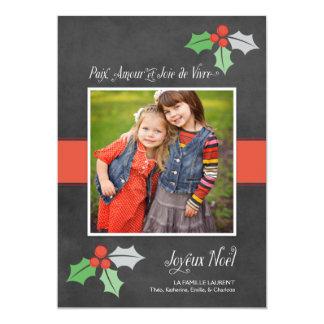Photo Cartes de Noël | Paix Amour et Joie Convite 12.7 X 17.78cm