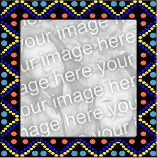 photoframe colorido dos pontos foto esculturas
