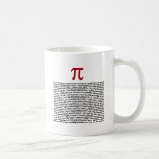 Pi = 3,141592653589 etc. etc… o que quer que! caneca de café