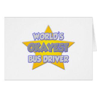Piada do condutor de autocarro do Okayest do Cartoes