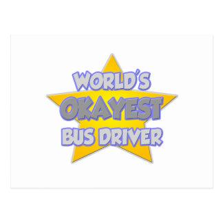 Piada do condutor de autocarro do Okayest do Cartão Postal