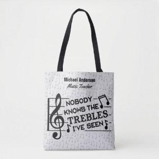 Piada engraçada | do triplo do professor de música bolsa tote