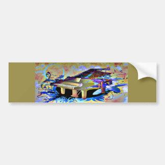 Piano colorido Digital Funky Adesivo Para Carro