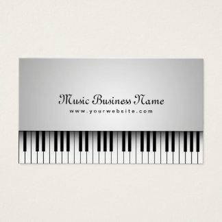 Piano de cauda branco bonito da música cartão de visitas