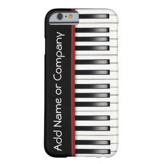 Piano eu telefono ao caso 5 personalizado capa barely there para iPhone 6
