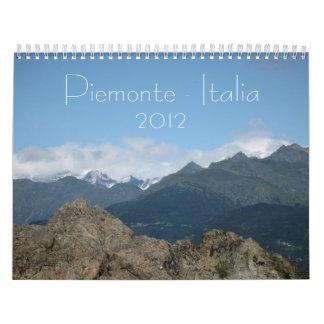 Piemonte-Italia 2012 Calendário