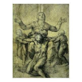 Pieta para Vittoria Colonna por Michelangelo Cartoes Postais