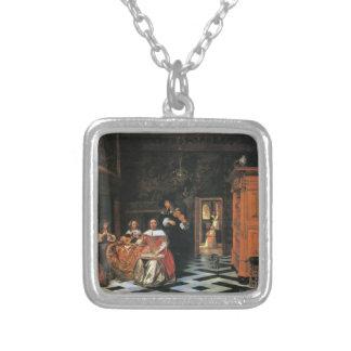 Pieter de Hooch- Retrato de uma família dos músico Bijuteria