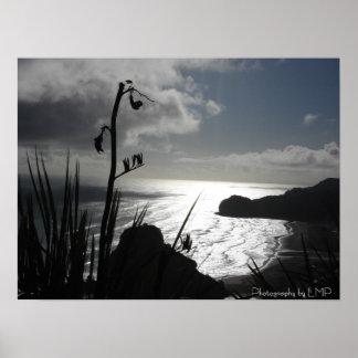 Piha, NZ, fotografia por LMP Poster