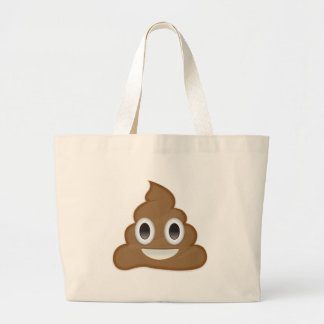 Pilha de Poo Emoji Bolsa Tote Grande
