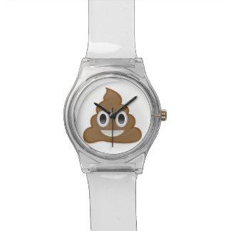 Pilha de Poo Emoji Relogios De Pulso