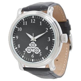 Pilha de três mokkos relógio de pulso