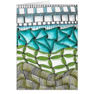 Pilha-um-Doodle Cartão Comemorativo