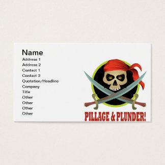 Pilhagem e pilhagem cartão de visitas