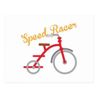 Piloto da velocidade cartão postal