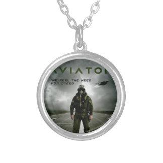 Piloto de caça do aviador bijuteria
