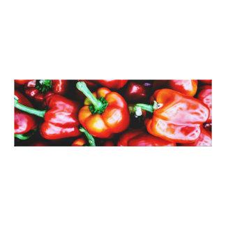 Pimenta de Bell vermelha - impressões das canvas